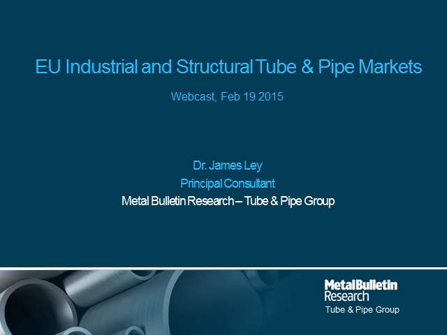 MBR's Outlook for EU Industrial & Structural Tube & Pipe Markets in 2015
