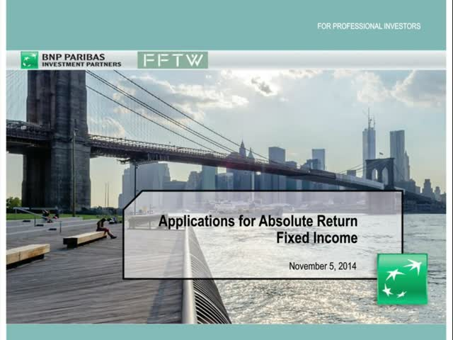 Applications for Absolute Return Fixed Income
