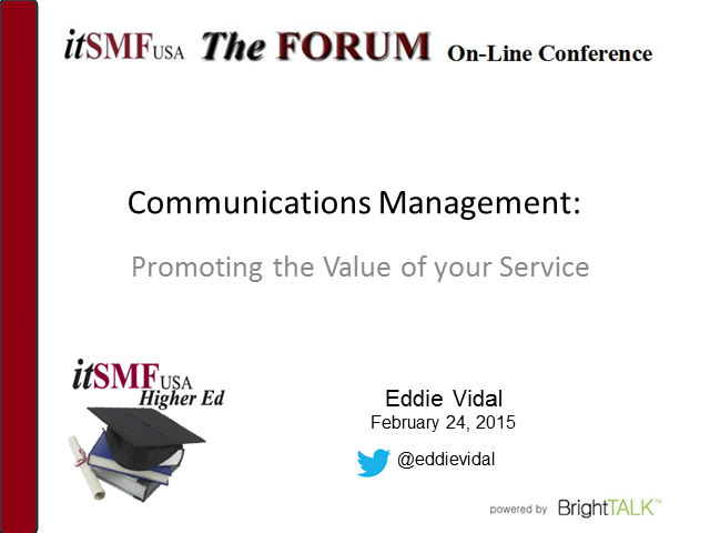 Higher Ed SIG | Communications Management: Promoting the Value of Your Services