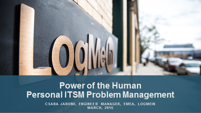 Power of the Human - Personal ITSM Problem Management