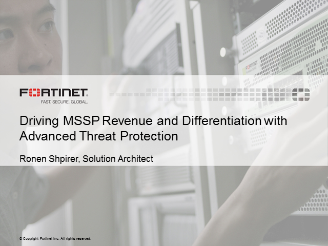 Driving MSSP Revenue and Differentiation with Advanced Threat Protection