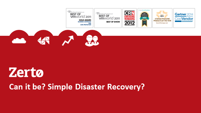 Virtual Machines and Data Replication: Simplifying Disaster Recovery
