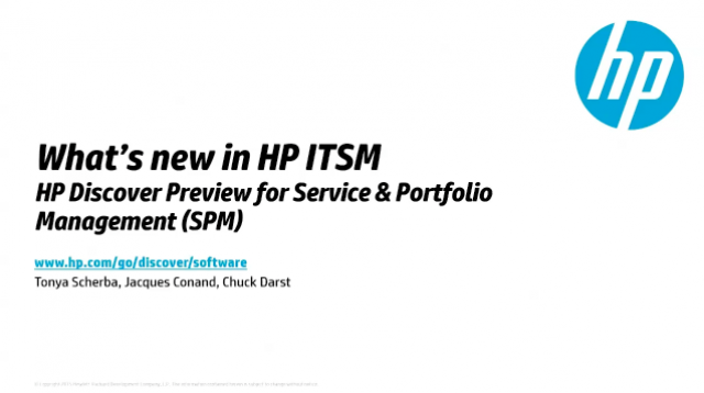 What's new in HP ITSM