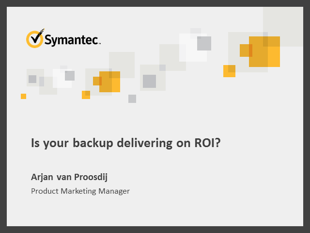 Is your Backup and Recovery delivering on ROI?