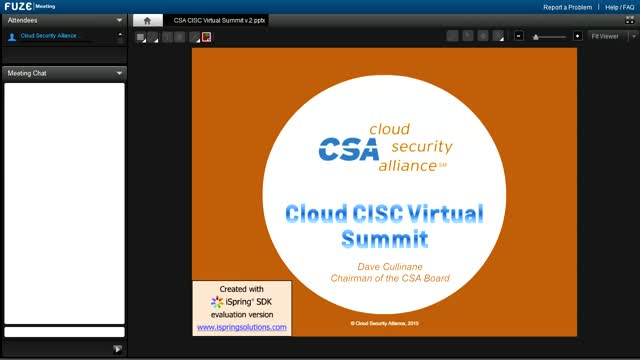 Cloud CISC Virtual Summit