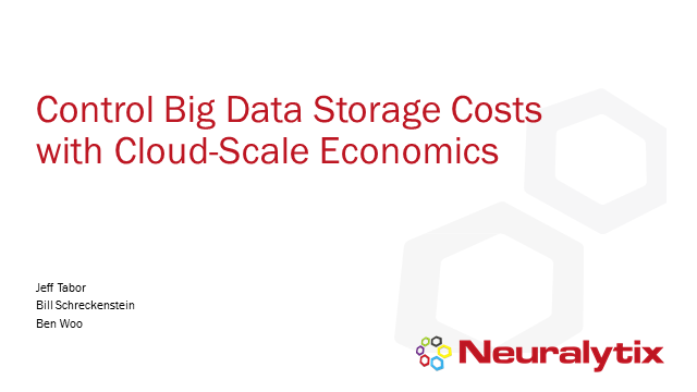 Control Big Data Storage Costs with Cloud-Scale Economics