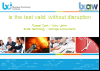BCI webinar: Is the test valid without disruption?
