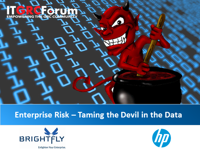 Enterprise Risk – Taming the Devil in the Data