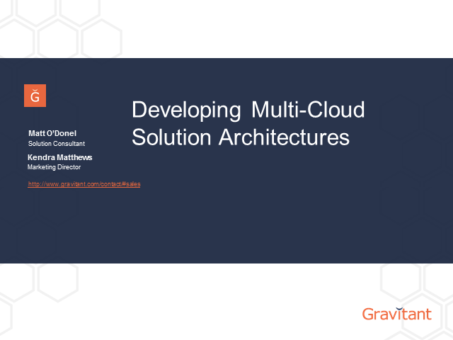 Developing Multi-Cloud Solution Architectures