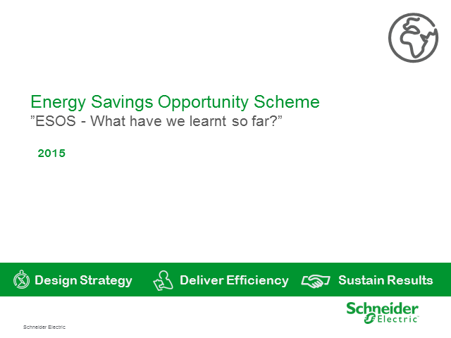 Energy Savings Opportunity Scheme 'ESOS' - What have we learned so far?""