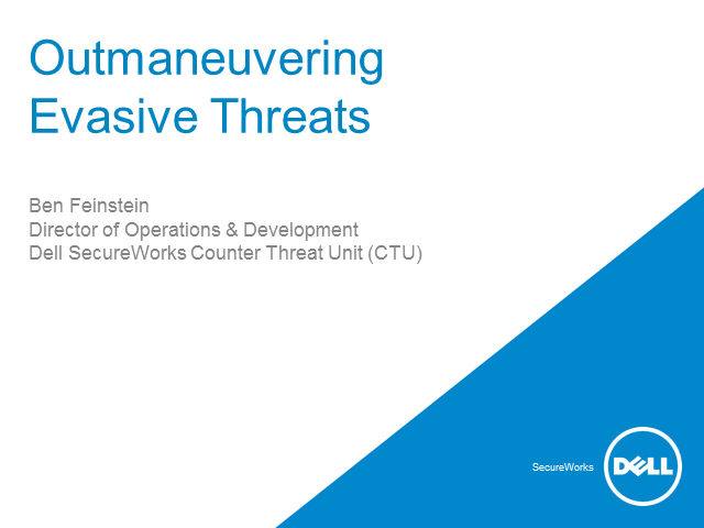 Outmaneuvering Evasive Threats  - The next generation of security defense