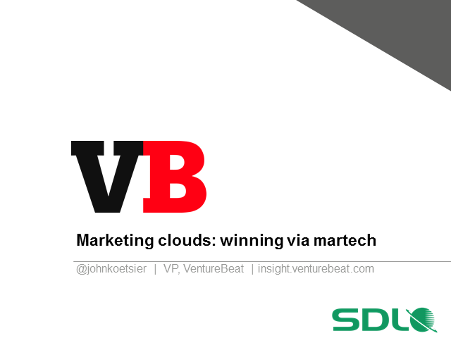 Marketing Clouds: How the best companies are winning via marketing technology