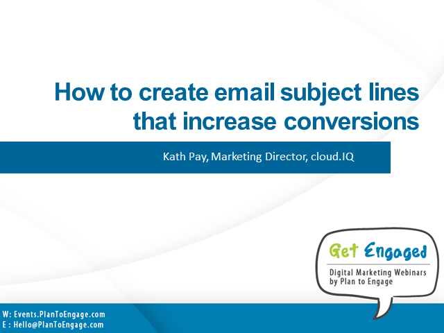 How to create subject lines that increase conversions