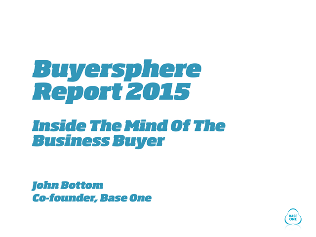 Webinar: Lifting the lid on B2B buyers – what they really do in the buying proce