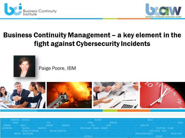 BCI webinar: BCM: A key element in the fight against cyber security attacks