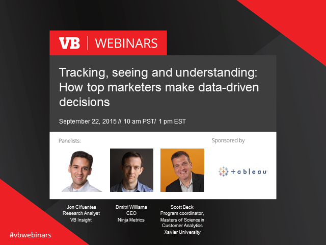 Tracking, seeing, understanding: How top marketers make data-driven decisions