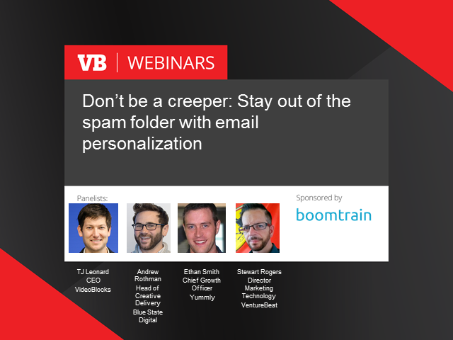 Don't be a creeper: Stay out of the spam folder through email personalization
