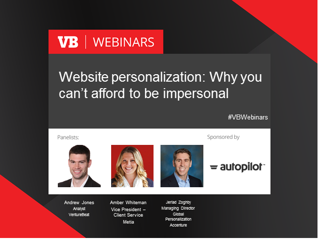 Website personalization: Why you can't afford not to get personal