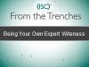 "From the Trenches: Being Your Own ""Expert Witness"""