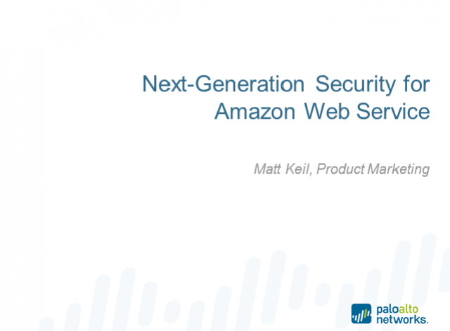 Next-Generation Security for Amazon Web Services