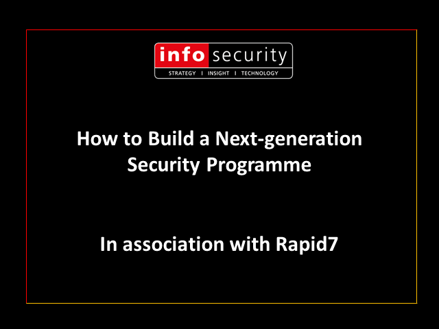 How to Build a Next-generation Security Programme