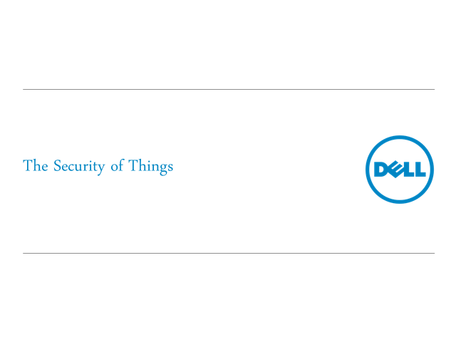 Security in the Internet of Things