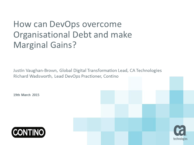 How can DevOps overcome Organisational Debt and make Marginal Gains?