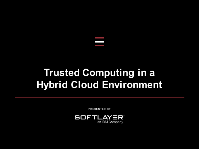 Security in the Hybrid Cloud