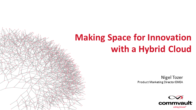 Making Space for Innovation with a Hybrid Cloud