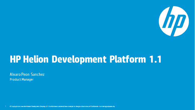 HP Helion Development Platform – What's new in version 1.1