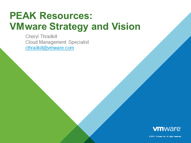 VMware Strategy & Vision 2015