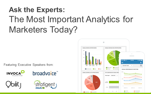 Ask the Experts: The Most Important Analytics for Marketers Today