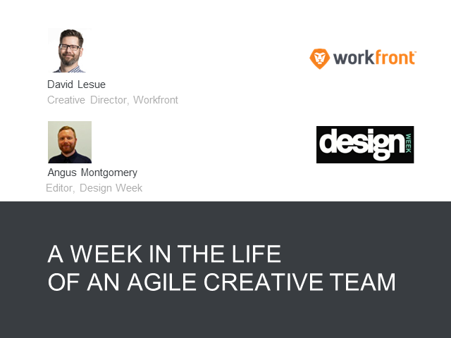 A Week in the Life of an Agile Creative Team