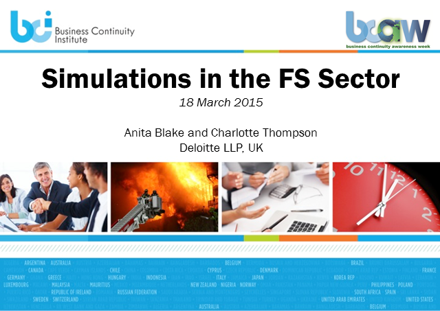 BCI webinar: Running simulations in the financial services sector