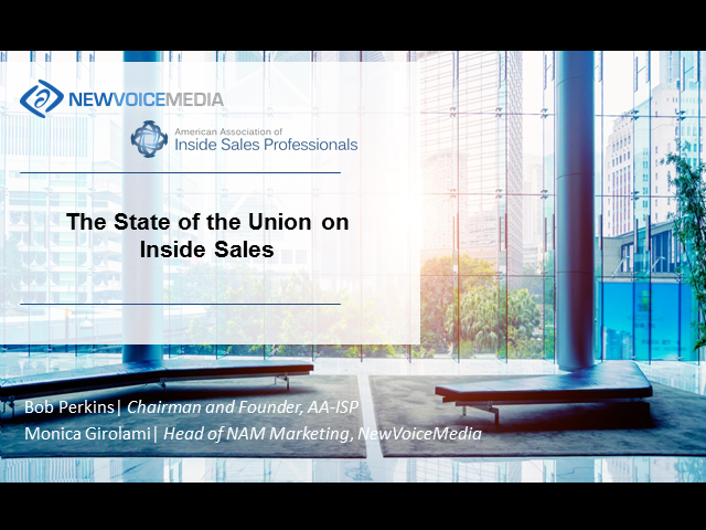 State of the Union on Inside Sales