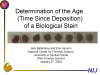 Estimation of the Time of Deposition of Bloodstains