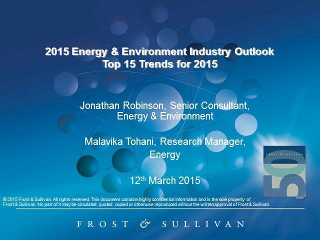 2015 Energy & Environment Industry Outlook