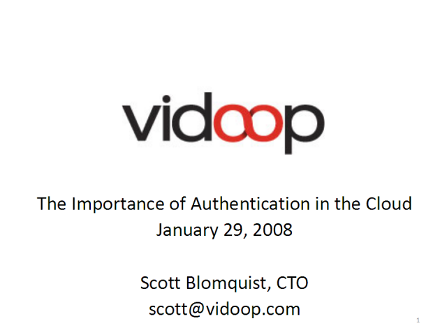 The Importance of Authentication in the Cloud