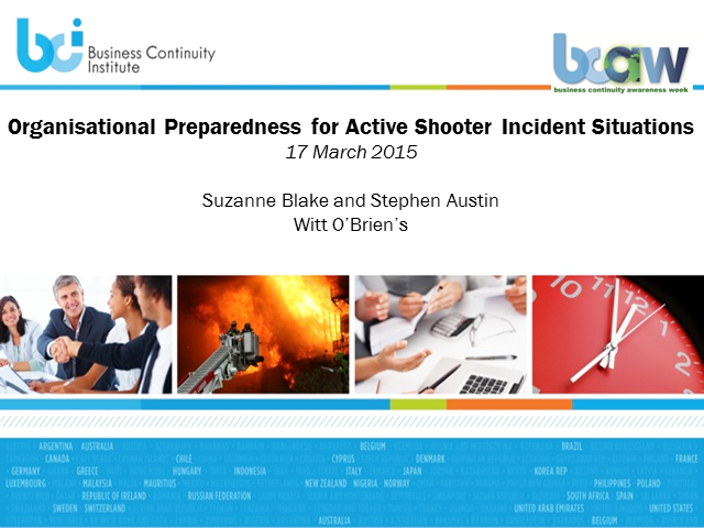 BCI webinar: Organizational preparedness for active shooter incidents