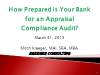 How Prepared Is Your Bank for an Appraisal Compliance Audit?