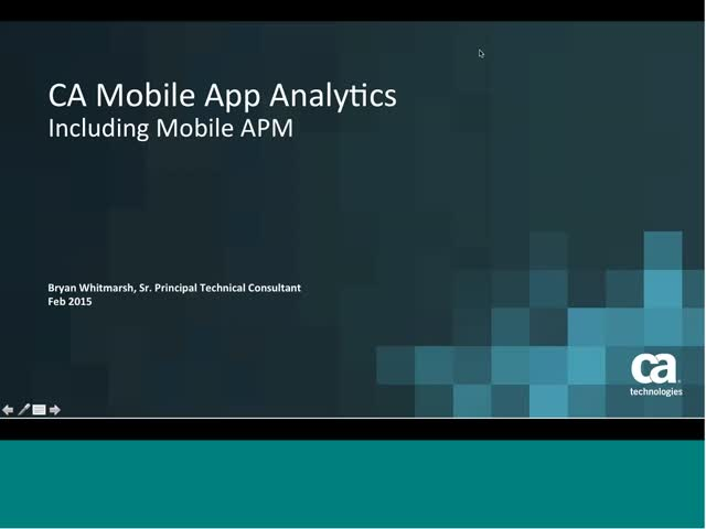 CA Mobile App Analytics