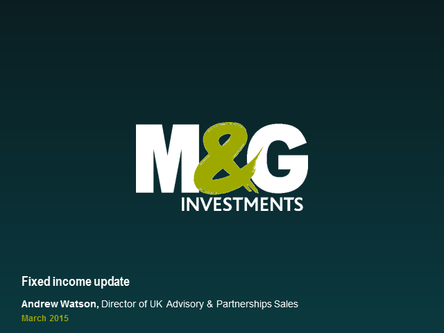 M&G Retail Fixed Interest Update Webcast (UK)