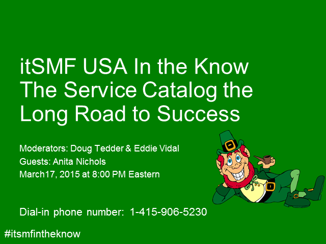 In the Know Podinar - The Service Catalog the Long Road to Success