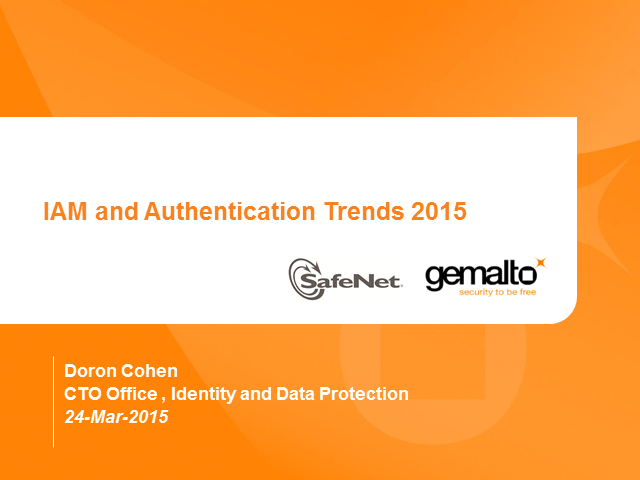 IAM and Authentication Trends in 2015