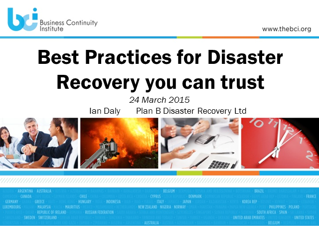 BCI webinar: Best practices for disaster recovery you can trust