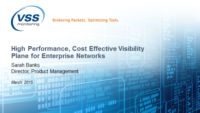 High Performance, Cost Effective Visibility Plane for Enterprise Networks