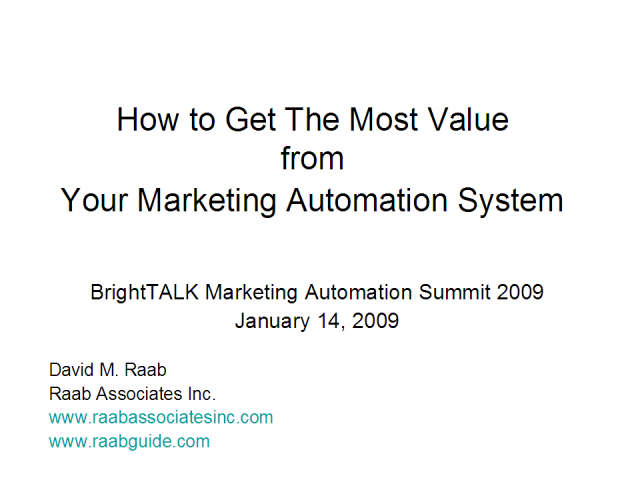 How to Get The Most Value from Your Marketing Automation System