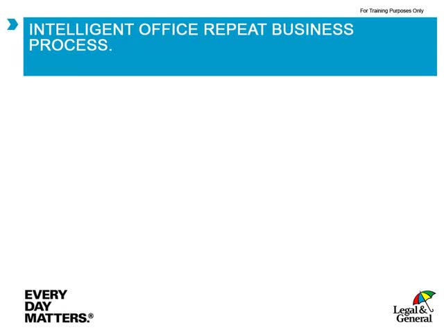 Intelligent Office repeat business process