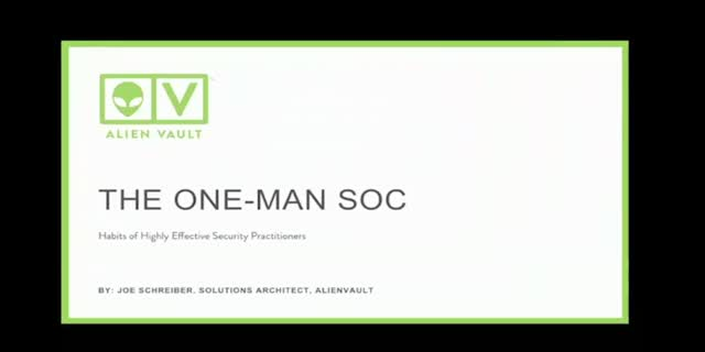The One-Man SOC: Habits of Highly Effective Security Practitioners