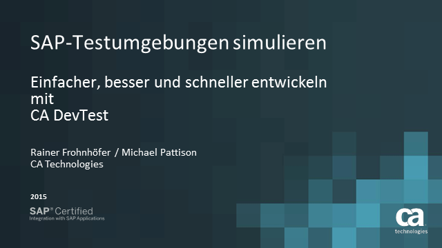SAP-Testumgebungen simulieren (Simulate SAP Test Environments)